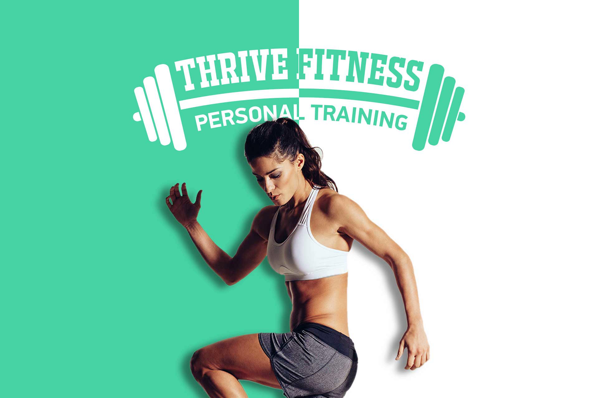Gym dumbbell. Personal trainer. Fitness. Workout. Green theme website design & development. Custom. Get Solutions