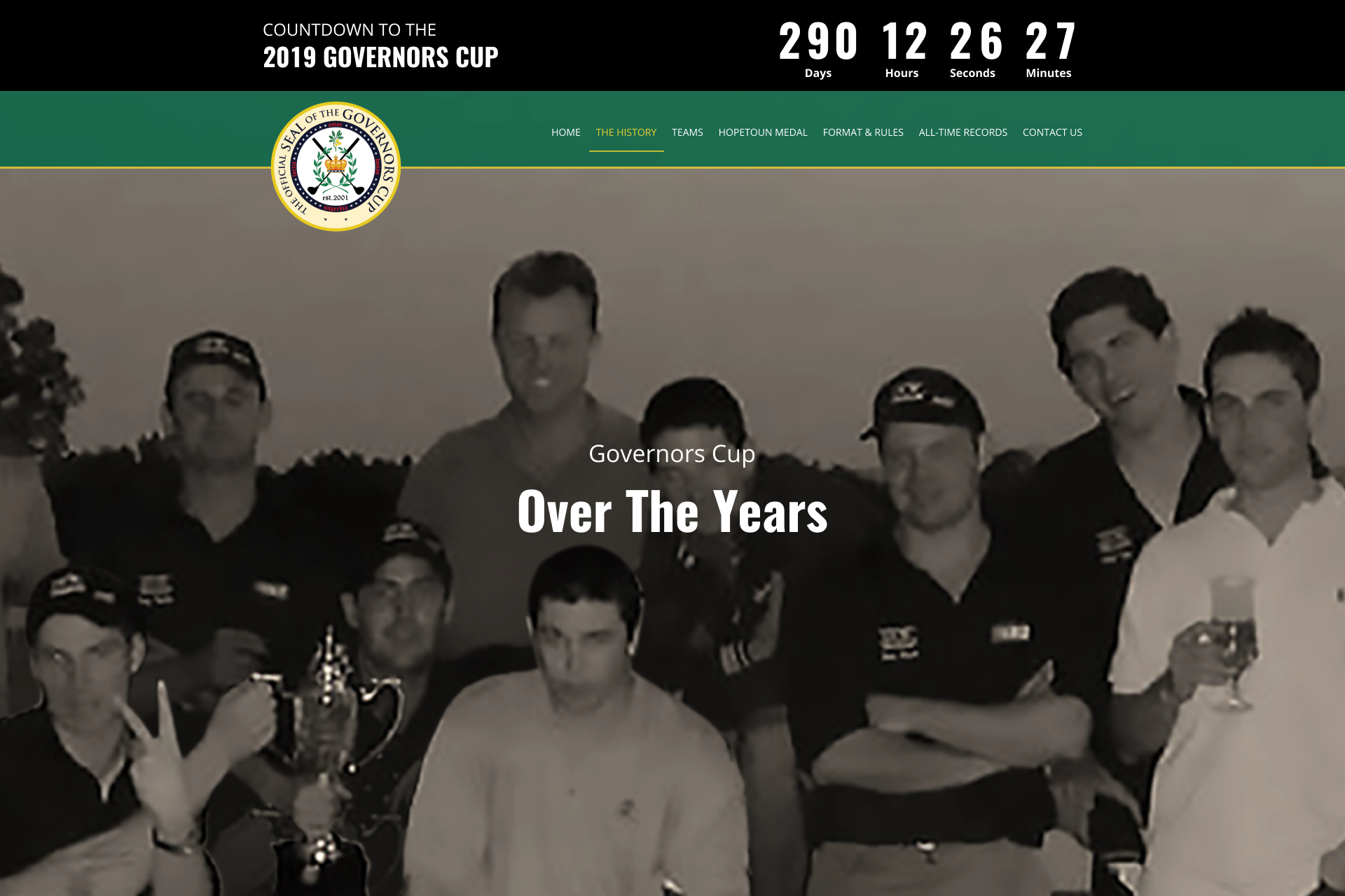 Number countdown| Old stock image| Golf players| Governor's Cup| Website Design Development| SEO optimized Solutions