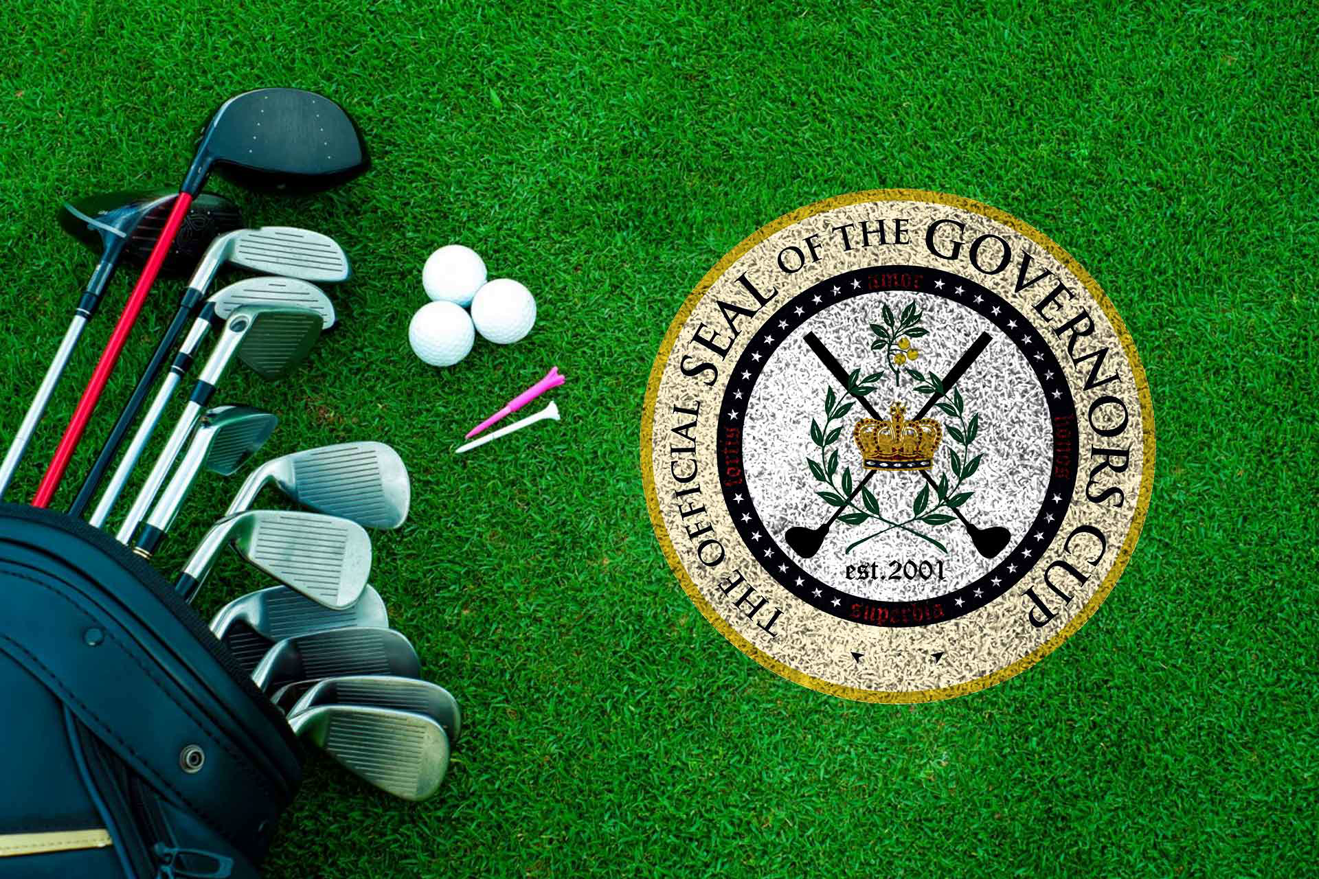 Engaging & interactive| Marketing Solution Green theme Website development| Governor's club| Custom logo| Golf kit| Yellow crown| Stationery idea| Get Solutions