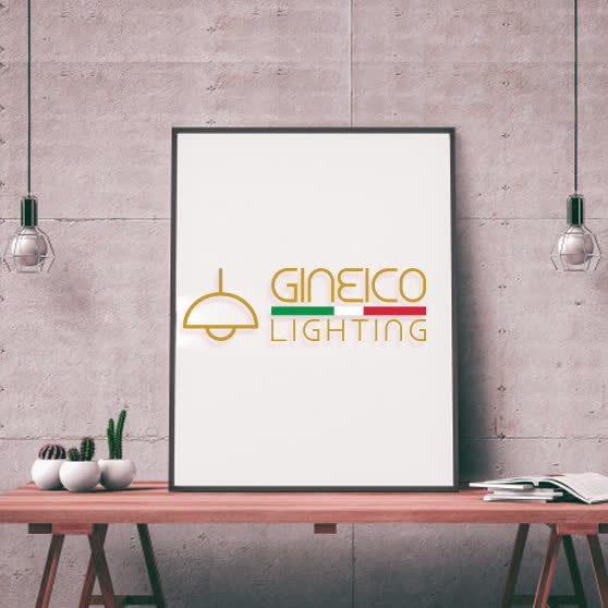 Gineico Lightning| Combination logo design| Light bulb ideas| Custom | Colorful line| Simple| Modern| Design solutions