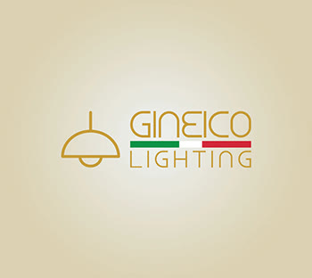 Gineico Lights combination electric logo design | Custom logo| Light background emblem ideas| Simple| GetSolutions360