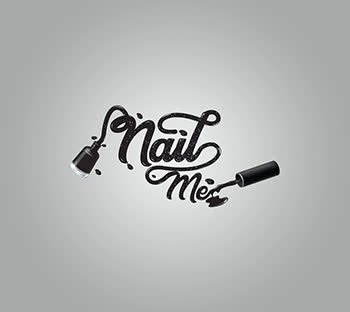 Black wordmark logo design| Simple| Professional| Nail Me | Nail paint bottle ideas| Unique | GetSolutions360