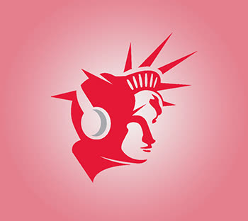 Red & White headphones ideas, Emblem logo designs, Statue of Liberty, pink, good price, custom design, GetSolutions360